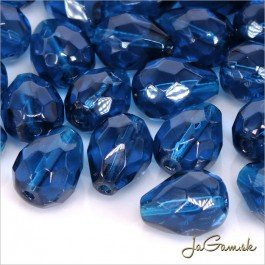 Brúsená kvapka 13 x 10 mm modrá 2 ks (6905)
