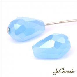 Brúsená kvapka 11 x 8 mm modrá opál 6 ks (6910)