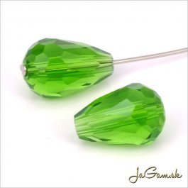 Brúsená kvapka 11 x 8 mm zelená 8 ks (6912)
