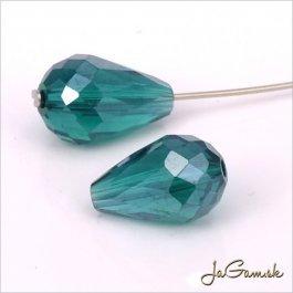 Brúsená kvapka 11 x 8 mm zelená emerald 5 ks (6914)