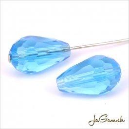 Brúsená kvapka 15 x 10 mm modrá 4 ks (6920)