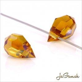 M.C.kvapky 6x10 mm Topaz Crystal-0001022511- 2 ks (mc_k002)