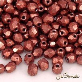 Ohňovky 3 mm ružovo-hnedá metalic 04b01 - 40 ks (5033)