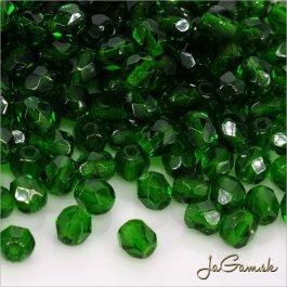 Ohňovky 4 mm zelená emerald 50140 40 ks (5374)