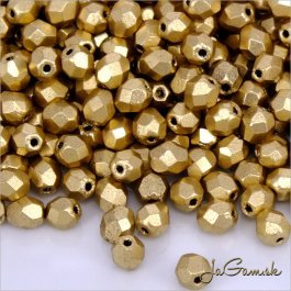 Ohňovky 4 mm zlatá matná K071JT  40 ks (5377)