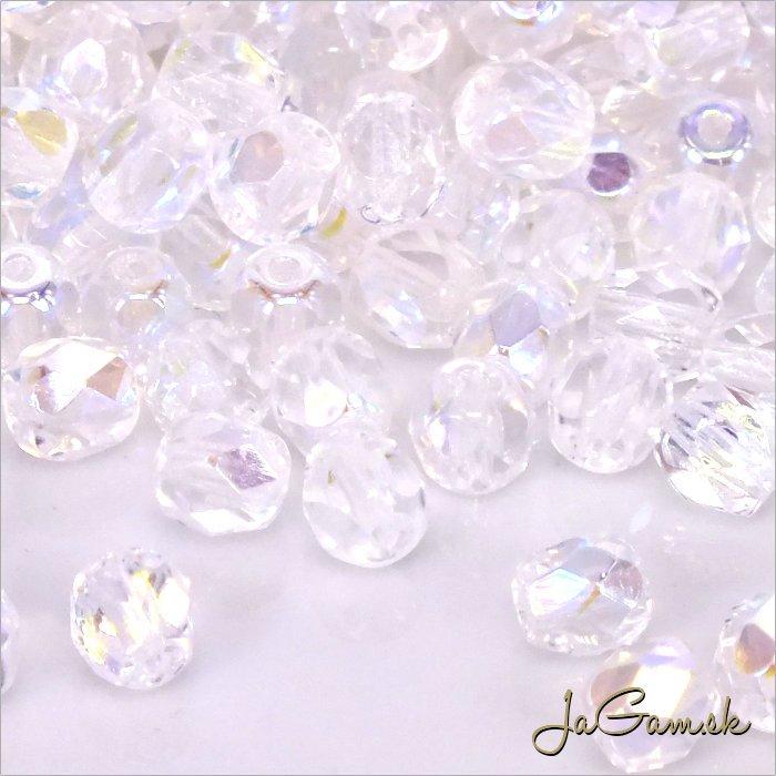 Ohňovky 4 mm  crystal AB 30ks (5315)