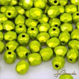 Ohňovky 4 mm zelená matná  30ks (5347)