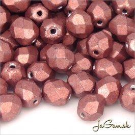Ohňovky 8 mm ružovo-hnedá metalic 04b01 - 10 ks (5919)
