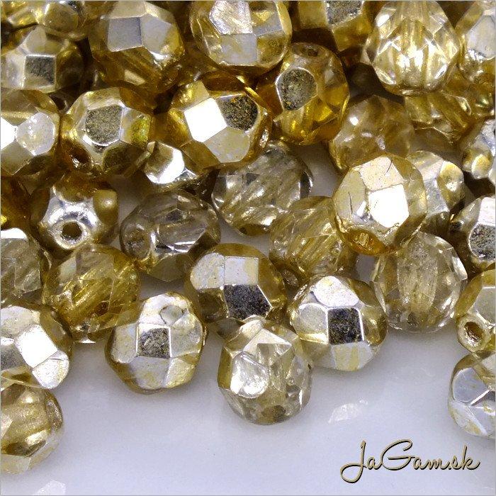 Ohňovky 6mm, zlatá - crystal-gold/topaz 97387CR - 20 ks (5642)