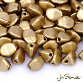 Pohánka 5x4 mm zlatá mat. 30 ks (20/5601)