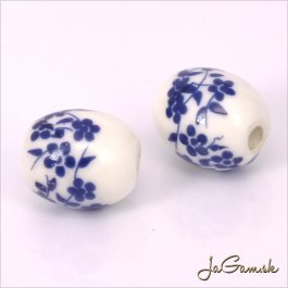 Porcelánové korálky 12x10 mm, 2 ks (11032_04)