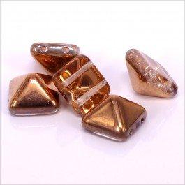 2-dierková pyramída 12x12x8mm, 1ks, medená (4/4)