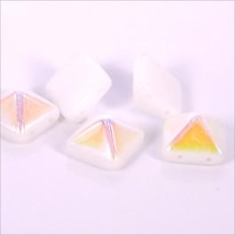 2-dierková pyramída 12x12x8mm, 1ks, biela (1/12)