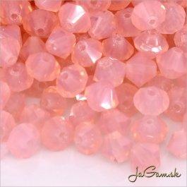 Slniečka 4 mm ružová/ opál 30 ks (7028mc)