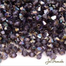 Slniečka 3mm fialová s pokovom 20510/22501, 30ks (7104mc)