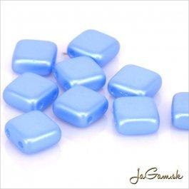 Štvorčeky 2-dierkové 6 x 6 mm, modrá matná 20 ks (017/56)