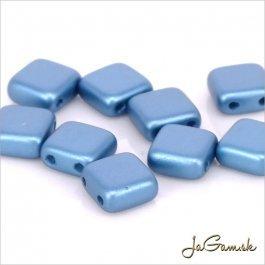 Štvorčeky 2-dierkové 6 x 6 mm, modrá matná 20 ks (018/58)