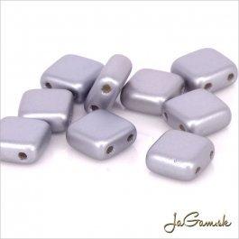 Štvorčeky 2-dierkové 6 x 6 mm, šedá matná 20 ks (020/64)