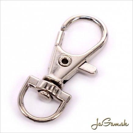 Karabínka na kľúče 35x15mm, platina, 2ks (kl003)