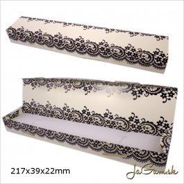 Darčeková krabička 22 x 4 x 2 cm krémová (k1003)