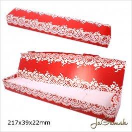 Darčeková krabička 22 x 4 x 2 cm červená (k1004)