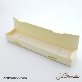 Darčeková krabička 22 x 4 x 2 cm krémová (k1018)