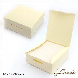 Darčeková krabička 8,5 x 8,5 x 3,2 cm krémová (k1019)