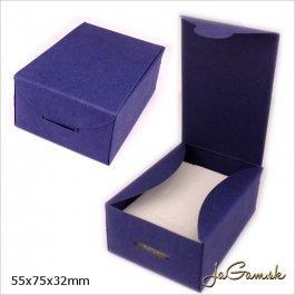 Darčeková krabička 5,5 x 7,5 x 3,2 cm modrá (k1022)