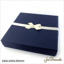Darčeková krabička 16 x 16 x 3 cm modrá (k1031)