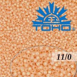 Toho Rokajl 11/0 Silver-Lined Milky Peach č.2111 8g