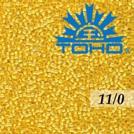 Toho Rokajl 11/0 - Inside-Color Crystal/Butter Lined č.961 8g