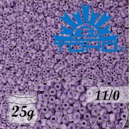 Toho Rokajl 11/0 Inside-Color Frosted Crystal/Grape Lined č.774F 25g