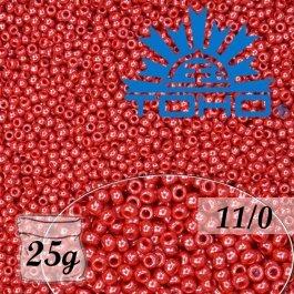 Toho Rokajl 11/0 Opaque-Lustered Cherry č.125 25g