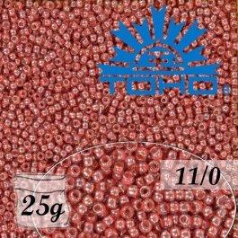 Toho Rokajl 11/0 Trans-Lustered Rose/Mauve Lined č.291 25g