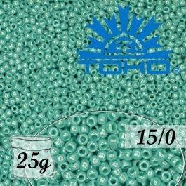 Toho Rokajl 15/0 Opaque-Lustered Turquoise, 25g (č.132)