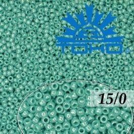 Toho Rokajl 15/0 Opaque-Lustered Turquoise, 5g (č.132)