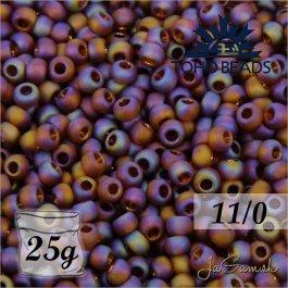 Toho Rokajl 11/0 - Transparent-Rainbow-Frosted Smoky Topaz č.177F 25g
