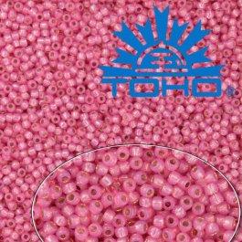 Toho Rokajl 8/0Silver-Lined Milky Mauve č.2106 10g