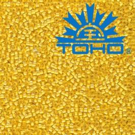 Toho Rokajl 11/0 - Inside-Color Crystal/Butter Lined č.961 8g