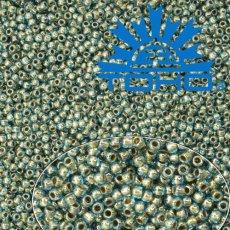 Toho Rokajl 11/0 Gold-Lined Aqua č.990 25g