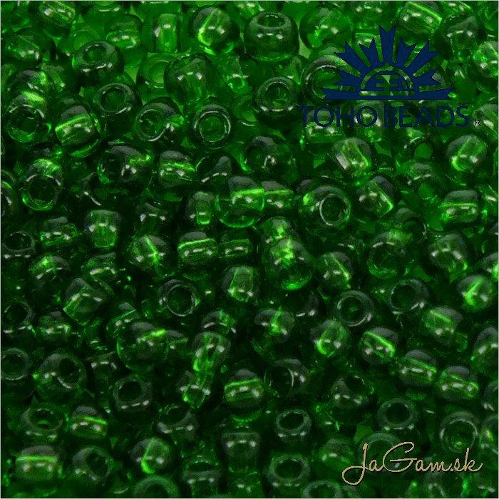 Toho Rokajl 11/0 - Transparent Grass Green č.7B 25g