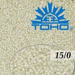 Toho Rokajl 15/0 Silver-Lined Milky White 5g (č.2100)