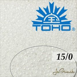 Toho Rokajl 15/0 Opaque-Lustered White 5g (č.121)