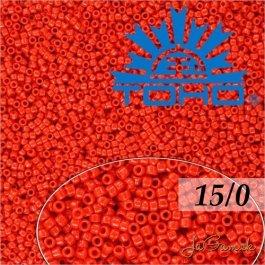 Toho Rokajl 15/0 Opaque Cherry 5g (č.45A)