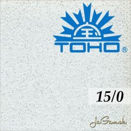 Toho Rokajl 15/0 Transparent frosted crystal 5g (č.1F)