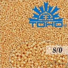 Toho Rokajl 8/0 Galvanized Rose Gold č.PF551 10g