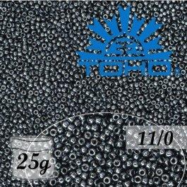 Toho Rokajl 11/0 Metallic Hematite č.81 25g