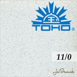 Toho Rokajl 11/0 Transparent frosted crystal 8g (č.1F)