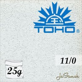 Toho Rokajl 11/0 Transparent frosted crystal 25g (č.1F)