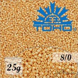 Toho Rokajl 8/0 Galvanized Rose Gold č.PF551 25g
